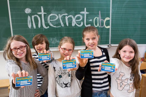 Internet-ABC in Schulklasse
