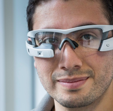 Recon Jet, Augmented-Reality-Brille, Head Mounted Display (HMD)